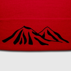 Red/white mountains Bags  - Winter Hat