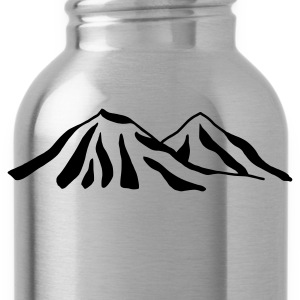 Red/white mountains Bags  - Water Bottle