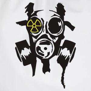 White/black bad gasmask radioactiv2 T-Shirts - Drawstring Bag