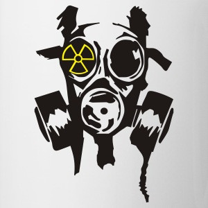 White/black bad gasmask radioactiv2 T-Shirts - Mug