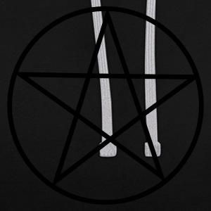 Asphalt Pentagram / Pentacle Caps & Hats - Contrast Colour Hoodie