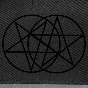 Black Inverted Pentagram / Pentacle Coats & Jackets - Snapback Cap