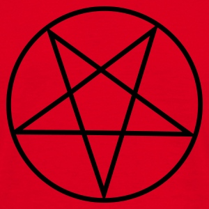 Red Inverted Pentagram / Pentacle Bags  - Men's T-Shirt