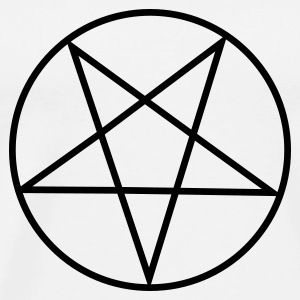 White Inverted Pentagram / Pentacle Mugs  - Men's Premium T-Shirt