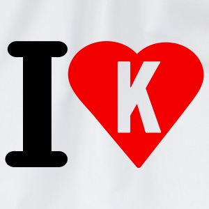 i_love_k - Drawstring Bag
