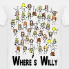 Weiß wheres willy T-Shirts - Männer T-Shirt