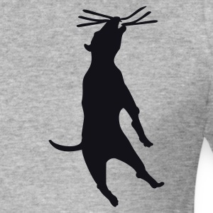 Blended grey dog hanging (1c) Jumpers - Men's Slim Fit T-Shirt