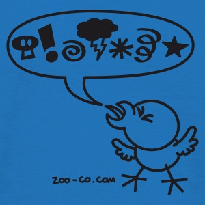 Royal blue Rude Chicken Umbrellas - Men's T-Shirt
