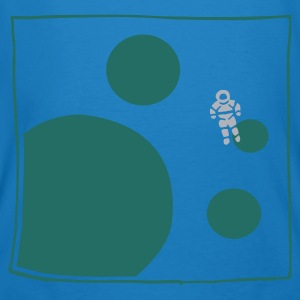 Peacock-blue astronaut Bags  - Men's Organic T-shirt