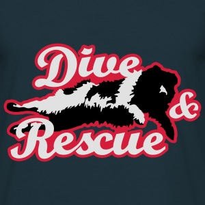newfoundland__dive_and_rescue__black_whi Hoodies & - Men's T-Shirt