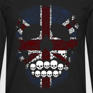 The British Skull Stencil T-Shirt - Men's Premium Longsleeve Shirt