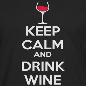 Keep Calm and drink wine Sweat-shirts - T-shirt manches longues Premium Homme