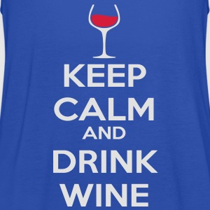 Keep Calm and drink wine T-Shirts - Women's Tank Top by Bella