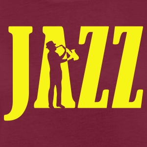 Bordeaux jazz  Aprons - Women's Oversize T-Shirt