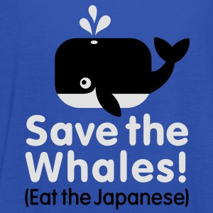 Save the Whales! Eat the Japanese  Aprons - Women's Tank Top by Bella