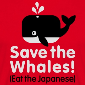 Save the Whales! Eat the Japanese Tabliers - T-shirt Homme
