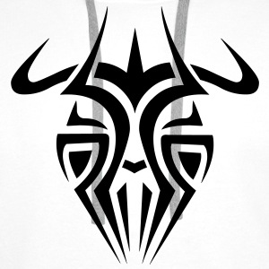 Mens Tribal Tattoo Mask T-shirt - Men's Premium Hoodie