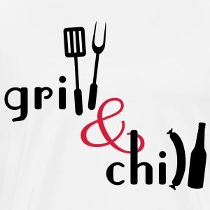 Grill and Chill  Aprons - Men's Premium T-Shirt