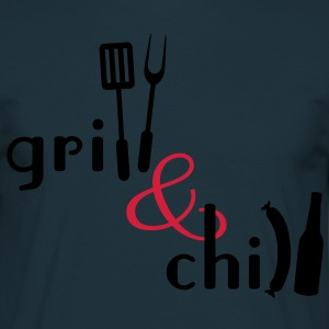 Grill and Chill Forklæder - Herre-T-shirt