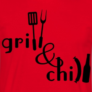 Grill and Chill  Aprons - Men's T-Shirt