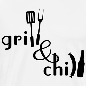 Grill and Chill Forklæder - Herre premium T-shirt
