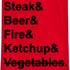 BBQ: Steak & Bier & Fire & Ketchup   Aprons - Men's T-Shirt