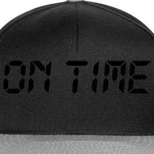 on time | pünktlich T-Shirts - Snapback-caps