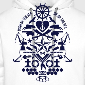 born_by_the_sea T-Shirts - Men's Premium Hoodie