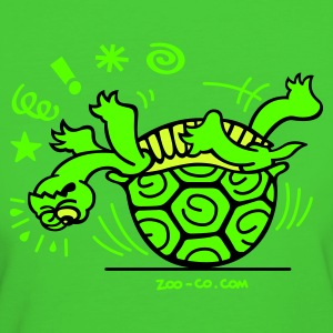 Green Unlucky Turtle Kid's Tops - Women's Organic T-shirt