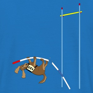 Pole vault  dog Bags  - Men's T-Shirt