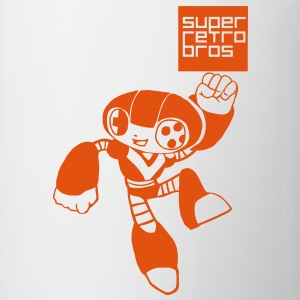 Leaping Retro Bot  T-shirts - Mugg
