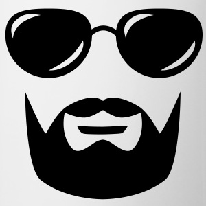sunglasses mustache and beard Bluzy - Kubek