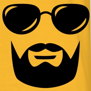 sunglasses mustache and beard Jacken & Westen - Männer T-Shirt