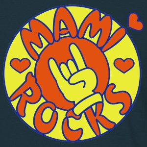 Navy mami rocks (circle, 3c) Jumpers - Men's T-Shirt
