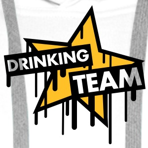 drinking_team_graffiti_star T-shirts - Premiumluvtröja herr
