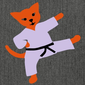 taekwondo cat Felpe - Borsa in materiale riciclato