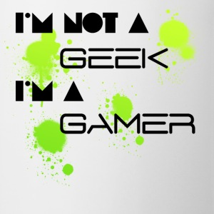 i'm not a geek i'm a gamer F - Tasse