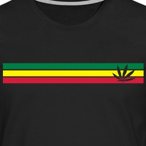 jamaica, hemp, grass smoke pot, joint, dowel, , reggae - Men's Premium Longsleeve Shirt