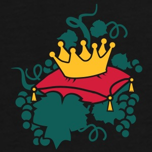 A crown on a pillow surrounded by vines and grapes Bags  - Men's Premium T-Shirt