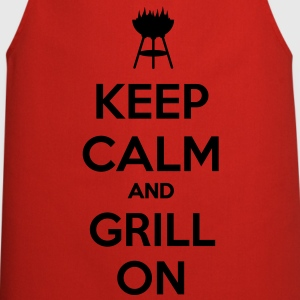 keep calm and grill on Camisetas - Delantal de cocina