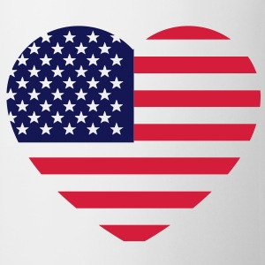 america heart T-shirt - Tazza