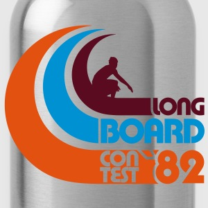 Surfing Longboard Contest 82 - Water Bottle