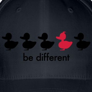 be different Ente Entchen Irokese Schnabel Punk Slogan Duck individuell Spruch einzigartig watscheln Schnabeltier T-Shirts - Flexfit Baseballkappe
