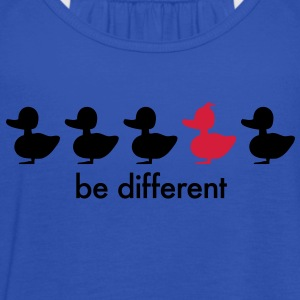 be different Ente Entchen Irokese Schnabel Punk Slogan Duck individuell Spruch einzigartig watscheln Schnabeltier T-Shirts - Frauen Tank Top von Bella