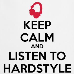 Keep Calm And Listen To Hardstyle Koszulki - Fartuch kuchenny