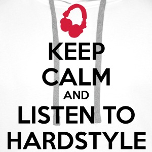 Keep Calm And Listen To Hardstyle T-shirt - Felpa con cappuccio premium da uomo