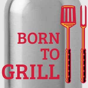 Born To Grill (Besteck) T-Shirt - Trinkflasche