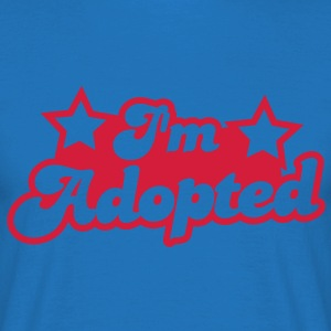 I'm adopted! super cute font with stars   Aprons - Men's T-Shirt