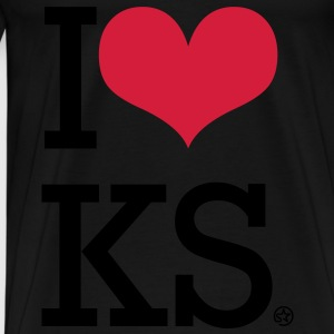 I LOVE KS Kinder sweaters - Mannen Premium T-shirt
