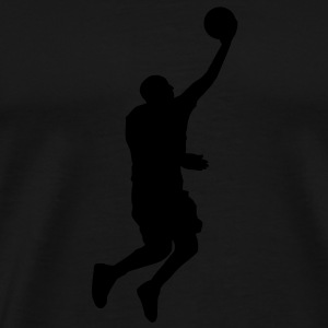 Basketball Player (layup) (Vector) - Men's Premium T-Shirt